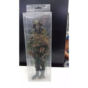 Miniatura Soldado De Guerra Camuflado Brasileiro.