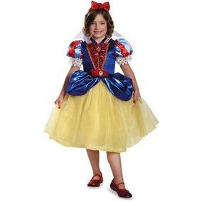 Disfraz Disney Blanca Nieves Niña Vestido Talla 4 A 6 Años