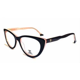 Armação P/ Oculos De Grau Feminino Cat Gatinho Ch80510 Rosé