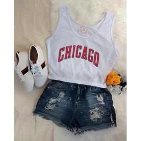 3796ca92d Blusa Chicago Bulls Regata Vermelha Feminina Blusas Feminino ...
