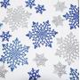 Copos De Nieve 9,5cms Flake Frozen Goma Eva Con Brillantina