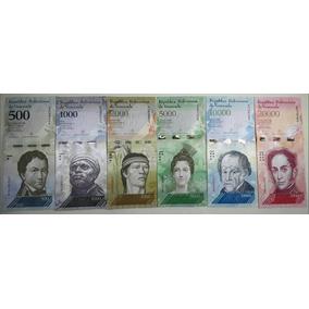 Cédulas Novas Venezuelanas 500, 1k, 2k, 5k, 10k E 20k.