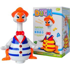 Pato Patinho Dancing Duck Mexe Boca Olhos Dança Brinquedo