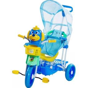 Triciclo Velotrol Belfix Criança Bebê Carrinho De Passeio Az