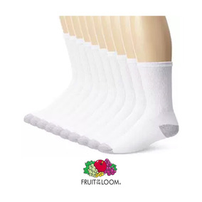 Fruit Of The Loom Medias Deportivas 10 Pares Crew-h T/6-12