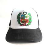 Gorras Trucker De Malla Escudo Peruano Color Negro
