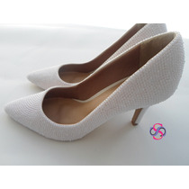 Sapato Branco Em Pérolas Personalizada Noivas ( Casamento)