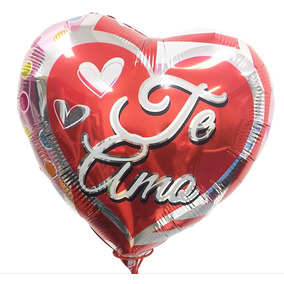Pack 12 Globos Metalizados Corazon Inflables Grandes Amor