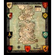 Mapa Westeros - Game Of Thrones - Seven Kingdoms