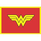 Tapete Capacho Super Heróis - Mulher Maravilha - 60x40 Cm