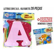 Letras Em Eva Alfabeto Kit Completo 26 Peças + Brinde