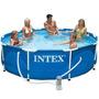 Pileta Intex Lona 366 X 76 Cm Estructural + Bomba + Cobertor