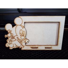 10 Porta Retratos Mickey Bebe 7x10 Mdf Fibrofacil Cortelaser
