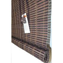 Persiana Rolo De Bambu Zebrano 1,60 Larg X 1,60 Alt Cortina