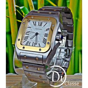 Reloj Cartier Santos 100 Grande Acero Y Oro Amarillo