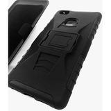 Funda Protector Uso Rudo Con Clip Huawei P9 Lite-negro