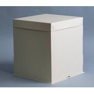 Caja Base Bandeja + Tapa 40x40x40 Cm (x 15 U.) Tortas Decoradas Bodas Comunión Cumpleaños 15 - 153a Bauletto