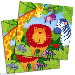 Jungle Animal Servilletas Pequeñas 16 Hojas Dobles