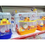 Jaula Grande Con Tubos 2 Pisos Sustrato Esfera Y Hamsters