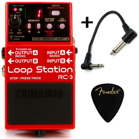 Pedal Loop Station Guitarra Baixo Violão Boss Rc-3 + Brindes