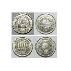 Moedas De 100 Réis Data 1889 E 1896 (2 Moedas)