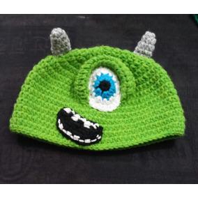 Gorro Lana Tejido Al Crochet - Monsters Inc.
