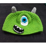 Gorro Lana Tejido Al Crochet - Monsters Inc.