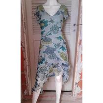 Vestido Moda Evangelica Florado Usado Tamanho G