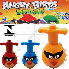 Kit 24 Und Pião Laser Musical Angry Birds Space C Luz Peao