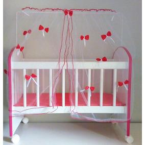 Bercinho De Boneca Adhara Branco - Rosa
