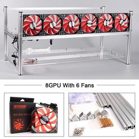Rig Estructura Importada De Aluminio 8 Gpu / 6-fan Incluidos