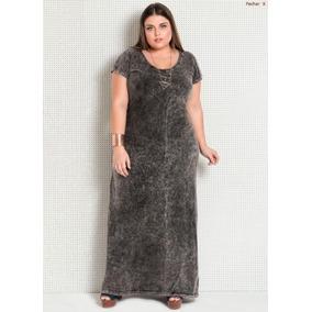Vestido Plus Size Moda Evangélica Social Executiva Longo