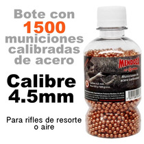 1500 Balines Municiones 4.5 Para Rifle Mendoza Crosman Gamo