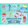 Set 14 Diseños Png Animales Mar Decoraciòn Sublimacion Scrap
