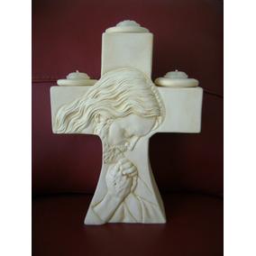 Kit De 6 Cruces Porta-velas Con Cristo C/envio