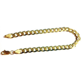 Esclava Barbada Cubana Oro Macizo 10k Pesa 10grs. Solid Gold