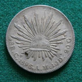 1896 Plata 8 Reales Republica Culiacan Cn A M