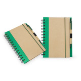 Kit X2 Notebook Trim Libreta Ecologica-natural/verde