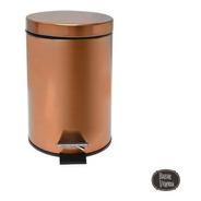 Cesto Color Bronce Cobre 12 Litros Cocina Sistema Antidedos