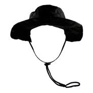 Chapéu Bonnie Hat Militar Pescador Camuflagem Preto