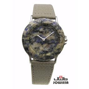 Reloj Stone Time Genuino Granito Tonos De Color Gris