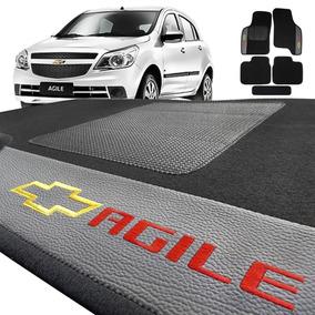 Jogo De Tapete Carpete Automotivo Agile Bordado 5 Peças