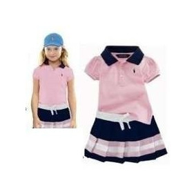 Conjunto Infantil Saia E Blusa Polo 1 Ano