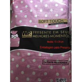 Embalagem Saco Presente Texturizado 100 Unidades 15x29 Cm