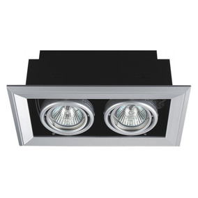 Luminaria Empotrar 502sa 2x50 W Blanco Mr16 Etco Iluminacion