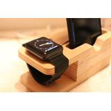 Dock Apple Watch Iphone Madera Guatambu