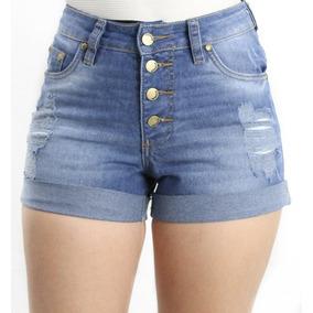 Short Jeans Destroyed 4 Botões Revanche