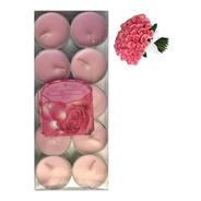 10 Velas Aromáticas Perfumadas Aroma Rosas Luxo Rechaud