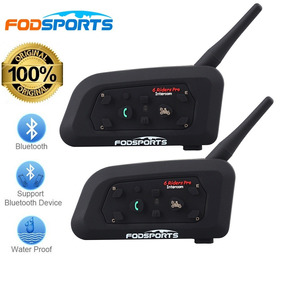Intercom Bluetooth Moto V6 1200 Capacete 2 Pçs + Brinde Top