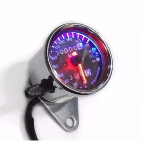 Velocímetro Moto Chopper Café Racer Custom Cromado 05